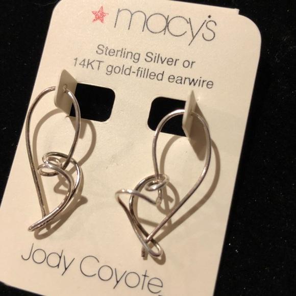 a37aba324 Macy's Jewelry | Macys Jody Coyote Sterling Silver Earrings | Poshmark